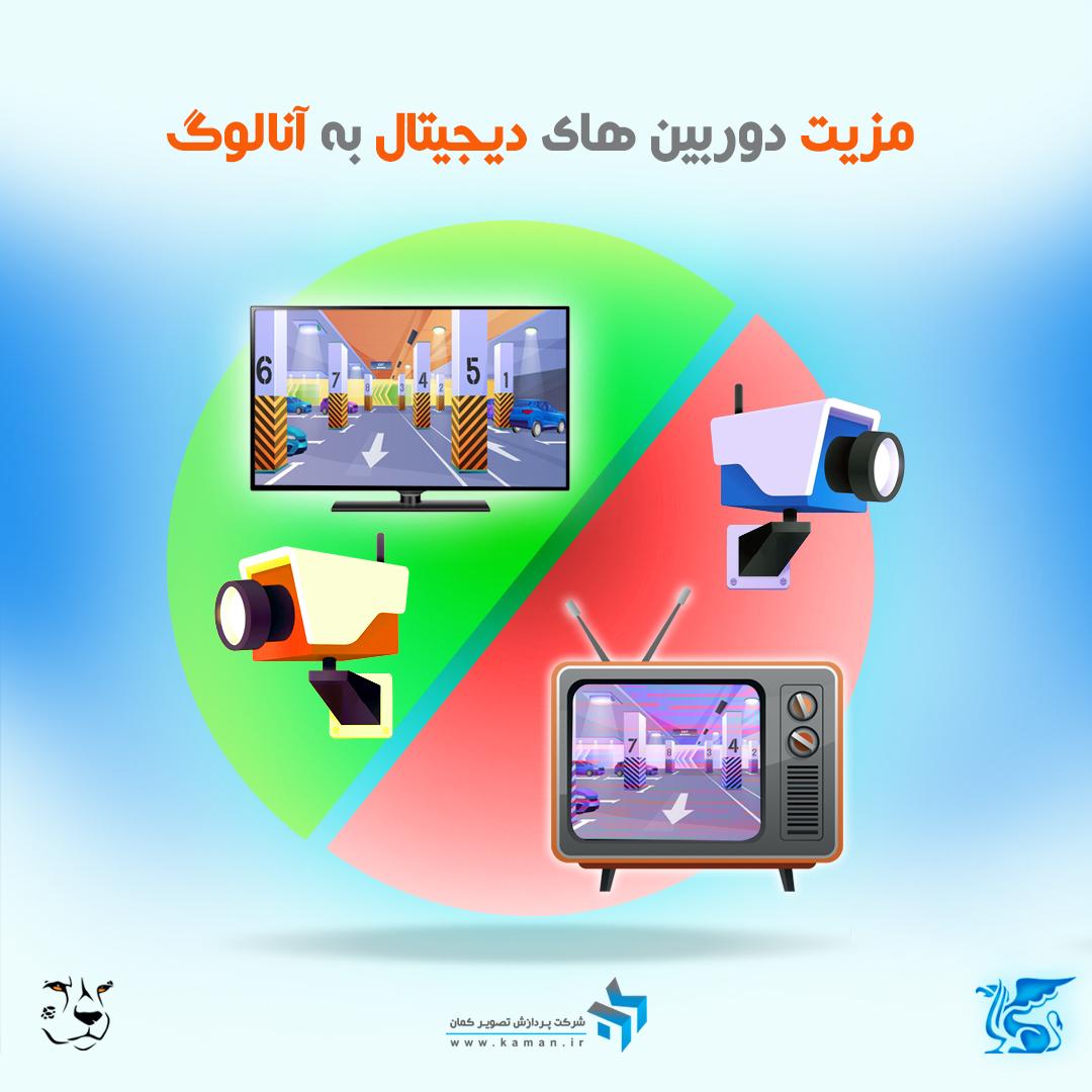 مزیت دوربین های دیجیتال به آنالوگ